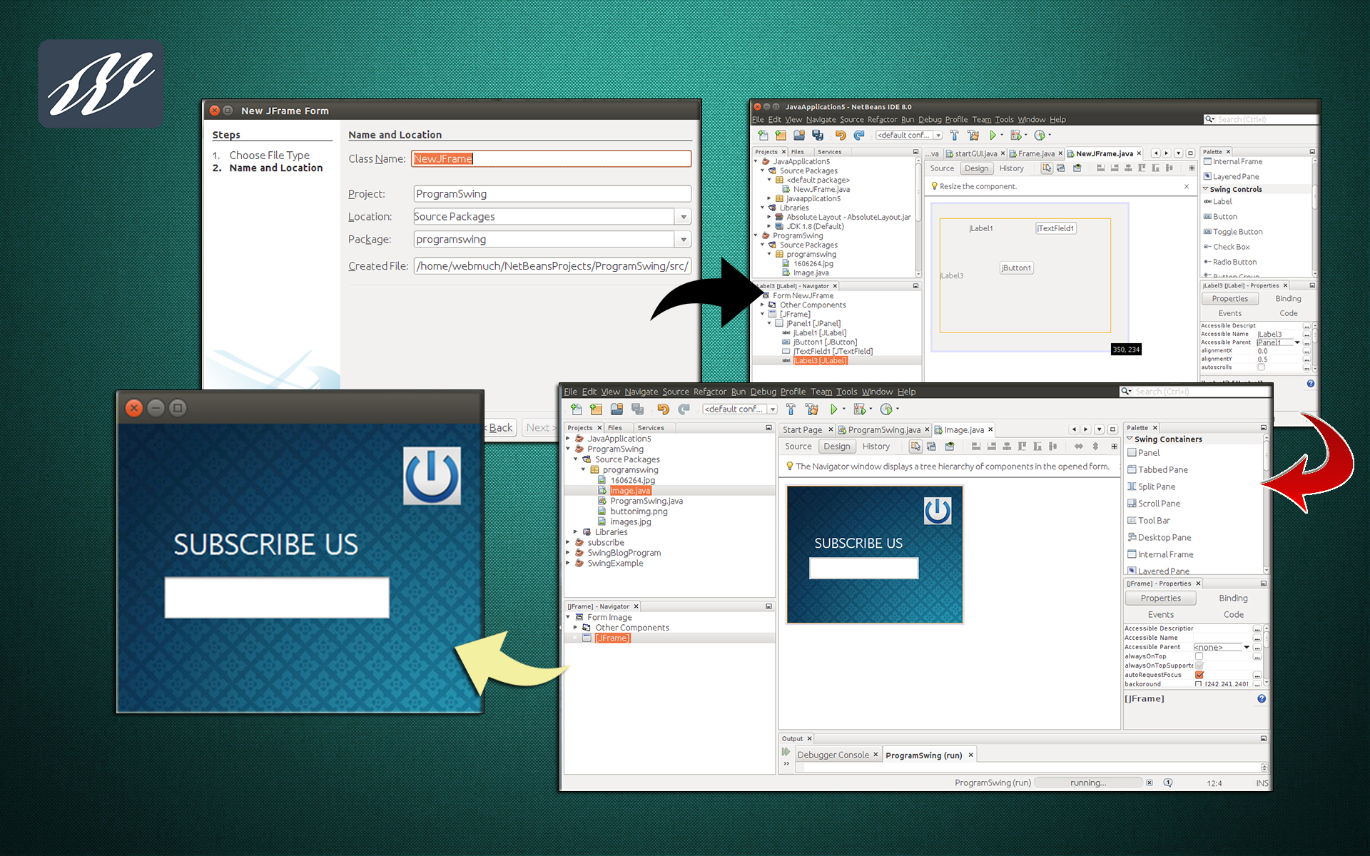 how to run java web application in netbeans